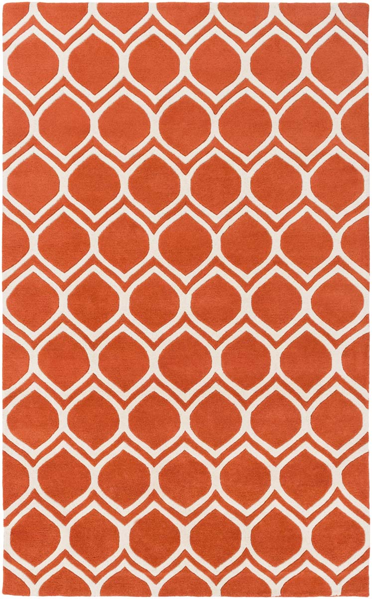 Artistic Weavers Transit AWTR-2326 Watson Bright Orange Ivory Rug